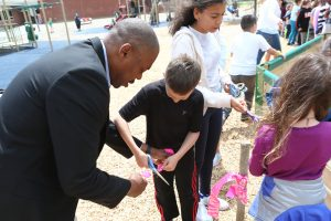 Superintendent Helps Ribbon Cutting